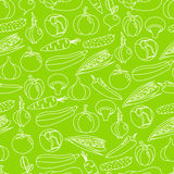 Vector background seamless pattern of colorful vegetables Stock Images