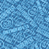 Vector background seamless pattern oktoberfest Stock Images