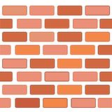 Vector Background, Seamless Red Brickwall at white. Simple vector Background, Seamless Red Brickwall vector illustration