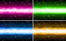 Vector background set. With red green yellow and blue Royalty Free Illustration