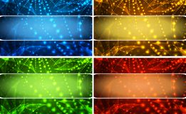 Vector background set. With red green yellow and blue Vector Illustration