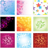 Vector background set Stock Photo
