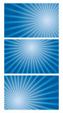 Vector background set of blue gradient radial Royalty Free Stock Image