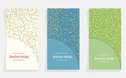 Vector background with set paper cards and abstract colorful sha. Vector background with set cover brochure and abstract colorful shapes
