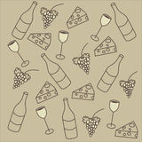 Vector Background set of vine theme. Nice vector Background set of wine theme. Buy it for print or web using Stock Photos