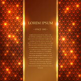 Vector background. Shiny golden template in vector with an area for simple text stock illustration