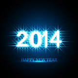Vector Background for shiny Happy New Year 2014 te. Xt blue colorful illustration Vector Illustration