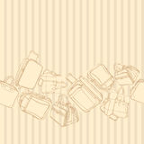 Vector background with shopping bag. Vector Royalty Free Stock Photos