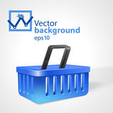 Vector background with shopping basket Stock Photography