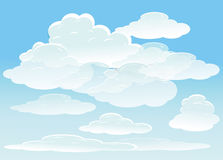 Vector background with sky Stock Photography