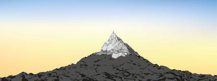 Vector Background sky with Mountains Stock Images