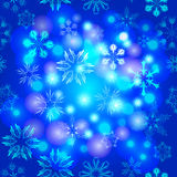 Vector background with snowflakes Royalty Free Stock Photos