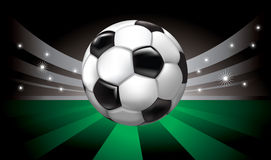 Vector background with soccer ball Royalty Free Stock Photos