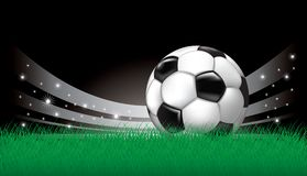 Vector background with soccer ball Stock Photo