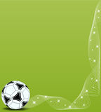 Vector background with soccer ball Stock Photography