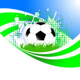 Vector background with soccer ball Stock Photos