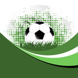 Vector background with soccer ball Royalty Free Stock Photography
