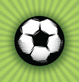 Vector background with a soccer ball and green grass on the field Stock Photography