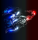 Vector background with soccer royalty free illustration