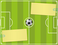 Vector background. Soccer. Royalty Free Stock Photo