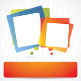 Vector background with speech bubbles. And place for for text royalty free illustration