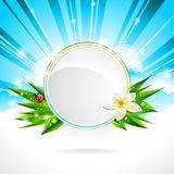 Vector background on a spring theme. Royalty Free Stock Photography