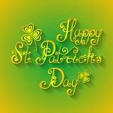 Vector Background for St. Patrick's Day, Holiday Lettering Royalty Free Stock Image