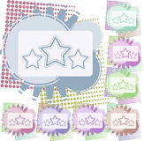 Vector background star Stock Photography