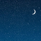 Vector background. Starry night Sky. Eps 10. Stock Image