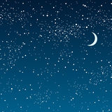 Vector background. Starry night Sky. Eps 10. Royalty Free Stock Images