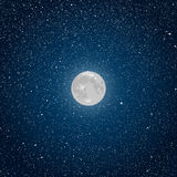 Vector Background. Starry night sky. Star. Moon. Royalty Free Stock Photography