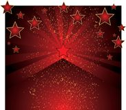 Vector background with stars. Vector red tone background with stars Royalty Free Illustration