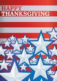 Vector background with stars Happy Thanksgiving stock illustration
