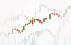 Vector background with stock market candlesticks chart. Forex trading creative design. stock illustration