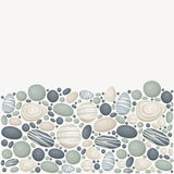 Vector background with stones. Vector background with sea/river/ocean stones. Lower part of the background is stones, upper part is blank vector illustration