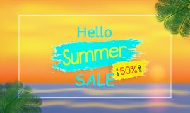 Vector Background and Summer Sale for banner vector illustration