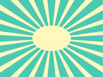 Retro sun rays vector. Vector background sun rays with white and green retro color Stock Image