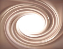 Vector background of swirling chocolate texture Stock Photography