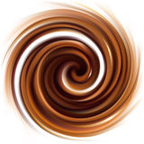 Vector background of swirling creamy chocolate texture Royalty Free Stock Photo