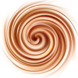 Vector background of swirling creamy texture Stock Images
