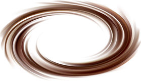 Vector background of swirling dark chocolate texture Royalty Free Stock Photos