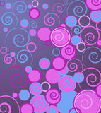 Vector background with swirls. Abstract vector background with circles stock illustration