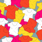 Vector background with t-shirts Stock Photography