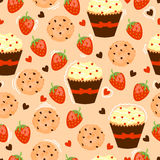 Vector background with tasty cake. Royalty Free Stock Photography