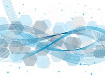 Vector background technology. Abstract technology vector background with hexagons Stock Photos