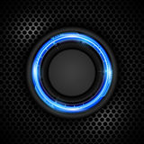 Vector background technology circle button concept and steel texture Royalty Free Stock Photography