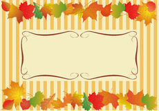 Vector background for text with autumn leaves. Royalty Free Stock Images
