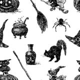 Vector background of the theme of Halloween stock illustration