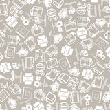 Vector background of the three d printer icons Stock Photos