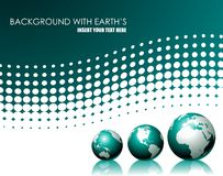 Vector background with three globe Stock Photography